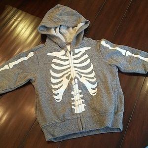 Glow in the dark skeleton hoodie 18-24 month